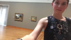 Me in a room of art
